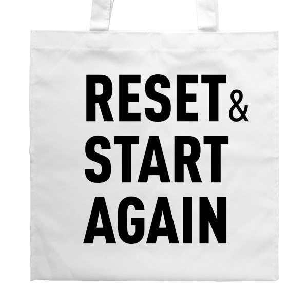 Белая сумка Reset and Start again
