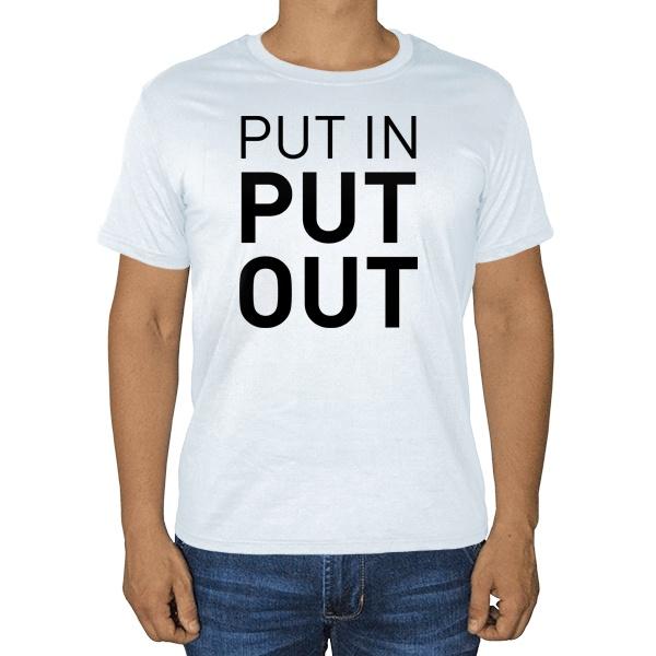Белая футболка Put in - Put out, цвет белый