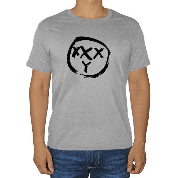 Oxxxymiron, серая футболка (меланж)