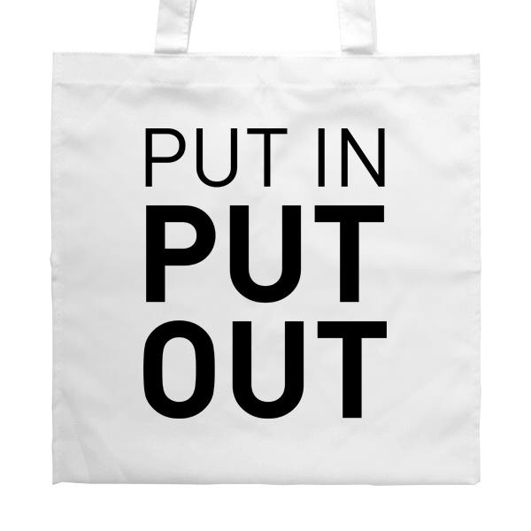Белая сумка Put in - Put out