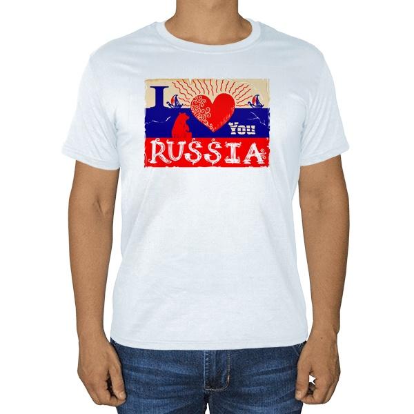 I love you Russia, белая футболка