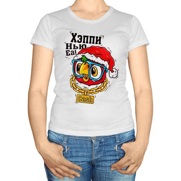 Женская футболка Хэппи нью еа
