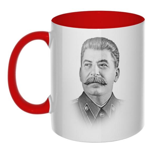 Кружка Сталин цветная внутри и ручка