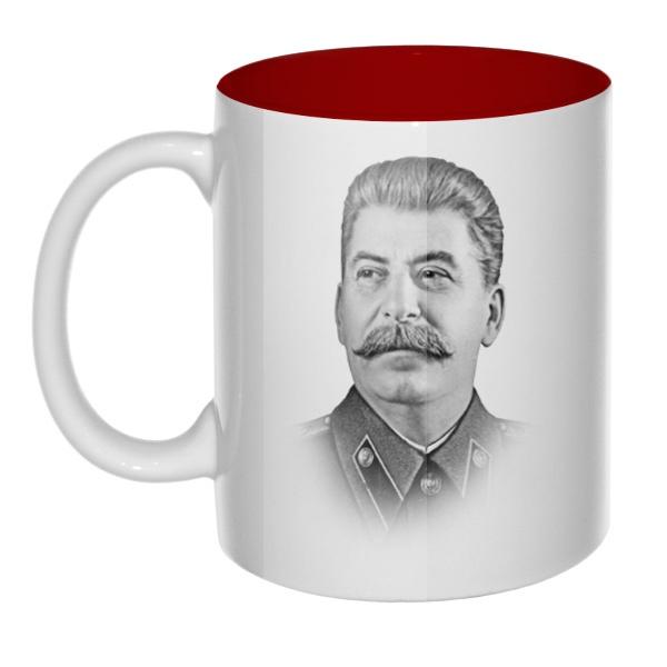 Кружка цветная внутри Сталин