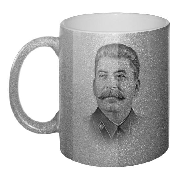 Кружка блестящая Сталин