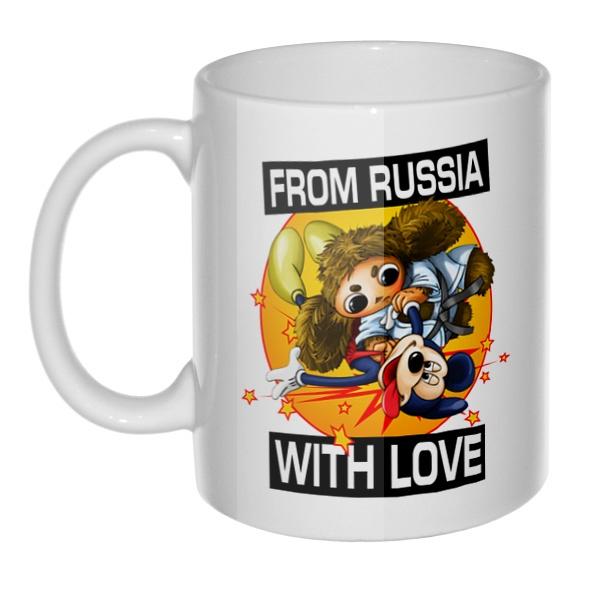 Кружка Cheburashka from russia with love