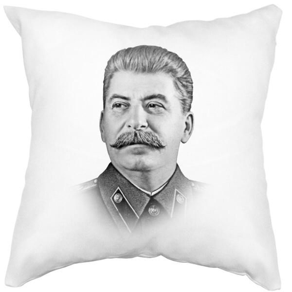 Подушка белая Сталин