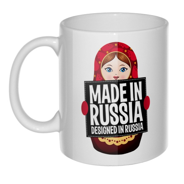 Кружка Матрешка Made in Russia