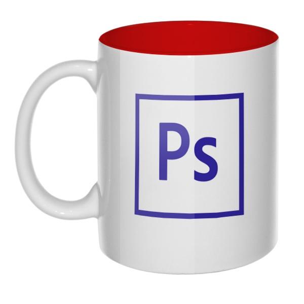 Кружка цветная внутри Логотип Фотошоп