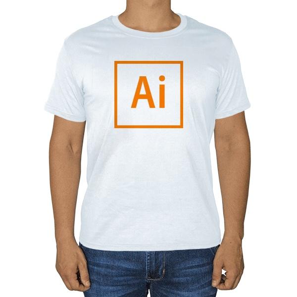 Белая футболка Лого Illustrator