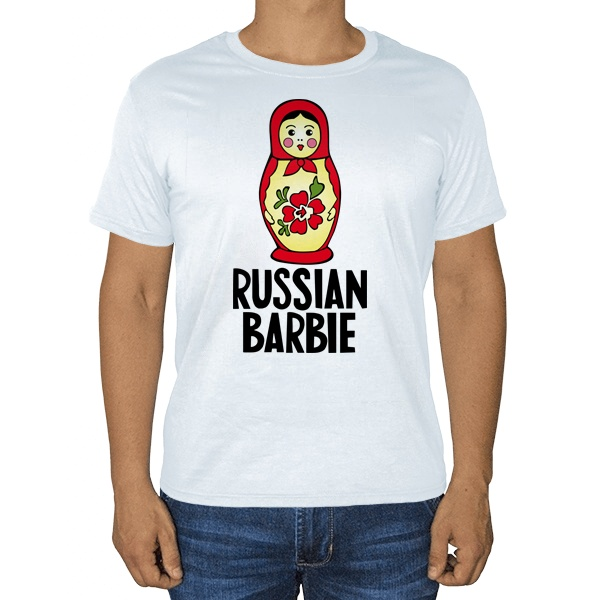 Russian Barbie, белая футболка