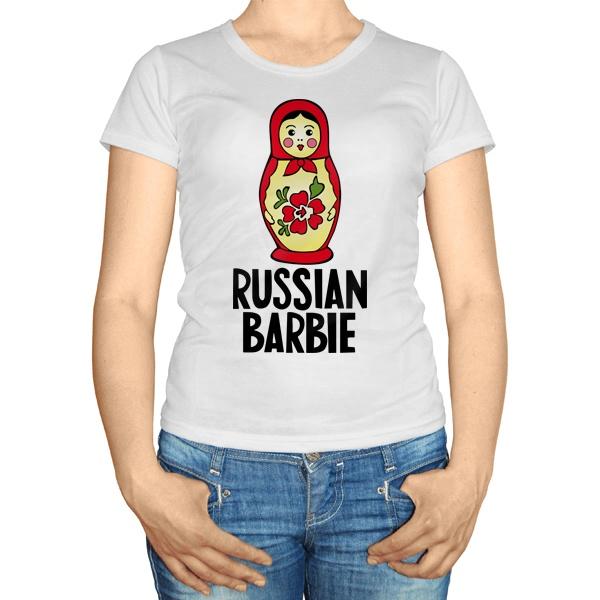 Женская футболка Russian Barbie