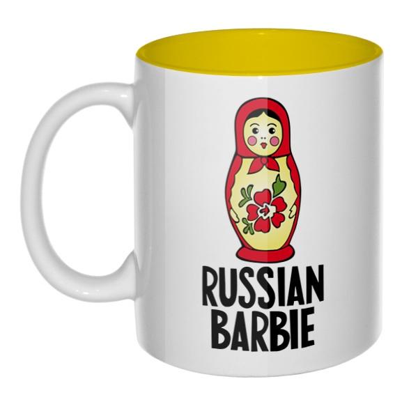 Russian Barbie, кружка цветная внутри