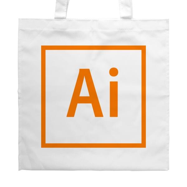 Белая сумка Лого Illustrator