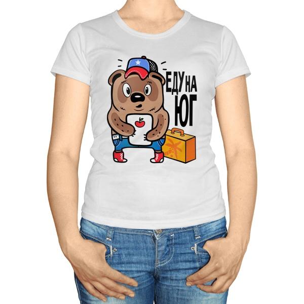 Женская футболка Еду на юг
