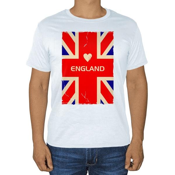 England, белая футболка