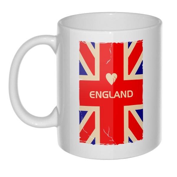 Кружка England, цвет белый