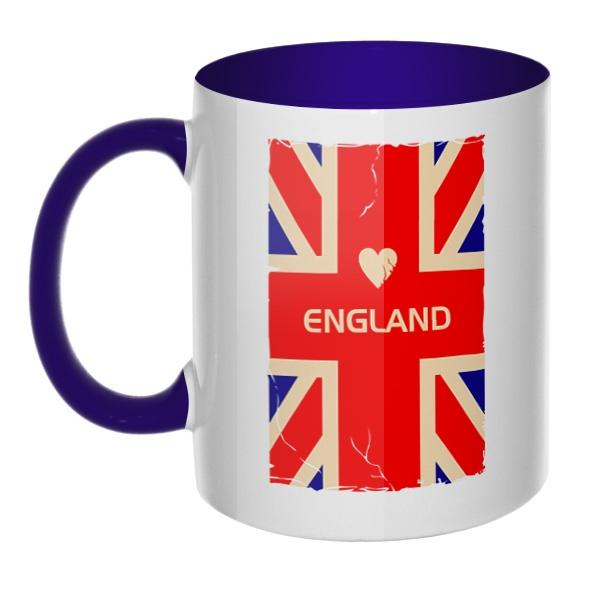England, кружка цветная внутри и ручка