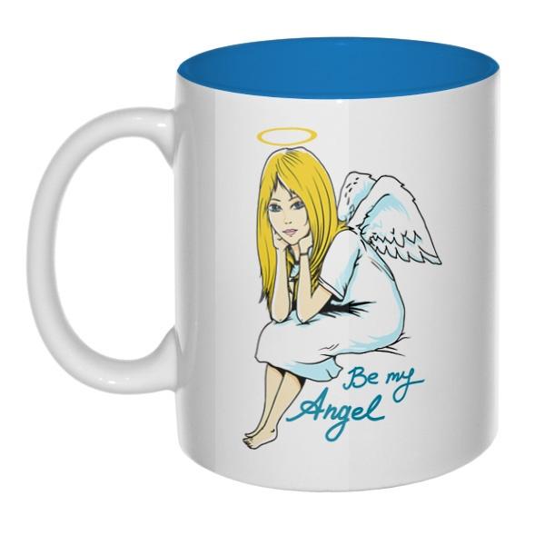 Be my angel, кружка цветная внутри