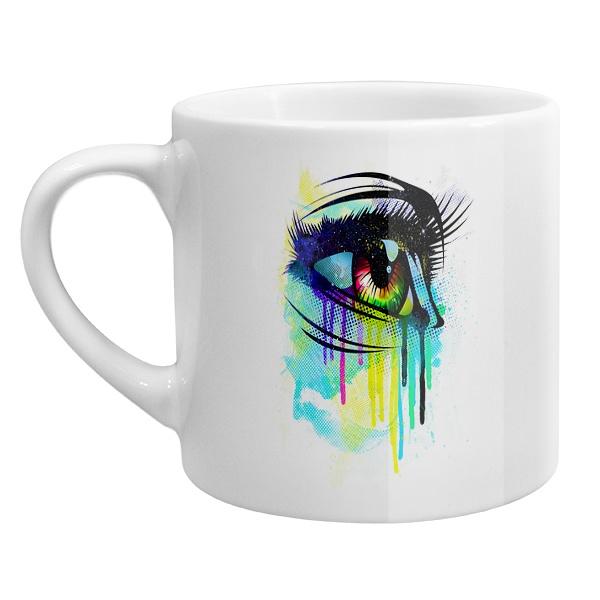 Кофейная чашка Рисунок женского глаза