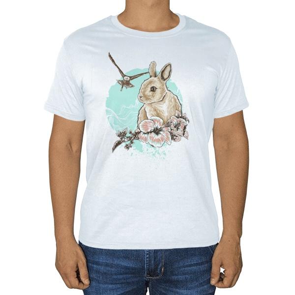 Заяц и орел, белая футболка