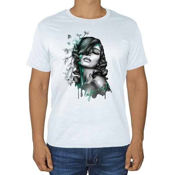 Девушка, белая футболка