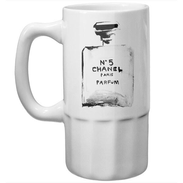 Пивная кружка Рисунок Chanel N5