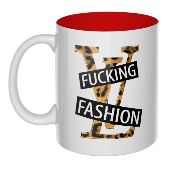 Fucking fashion, кружка цветная внутри