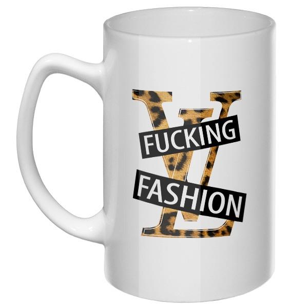 Большая кружка Fucking fashion