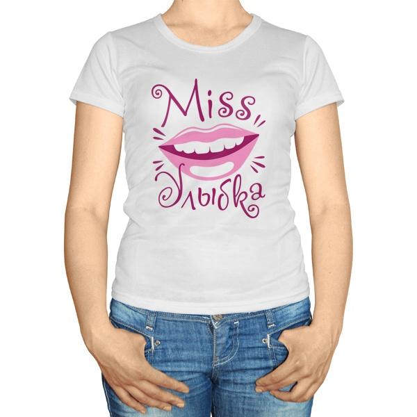 Женская футболка Мисс улыбка