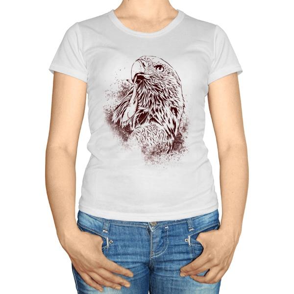 Женская футболка Ястреб