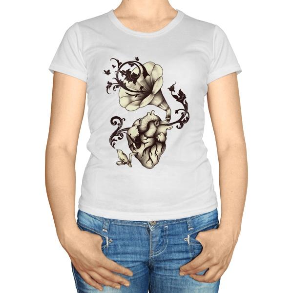 Женская футболка Граммофон