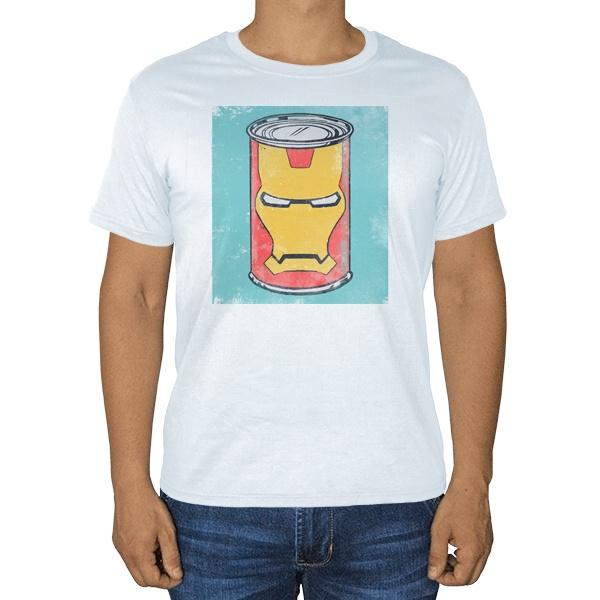 Железная банка в стиле Железного человека, белая футболка