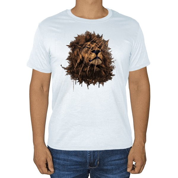 Царь зверей, белая футболка