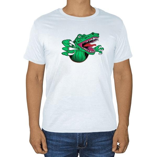 Крокодил, белая футболка