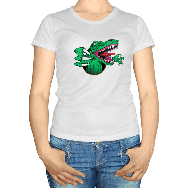 Женская футболка Крокодил