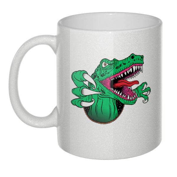 Кружка перламутровая Крокодил